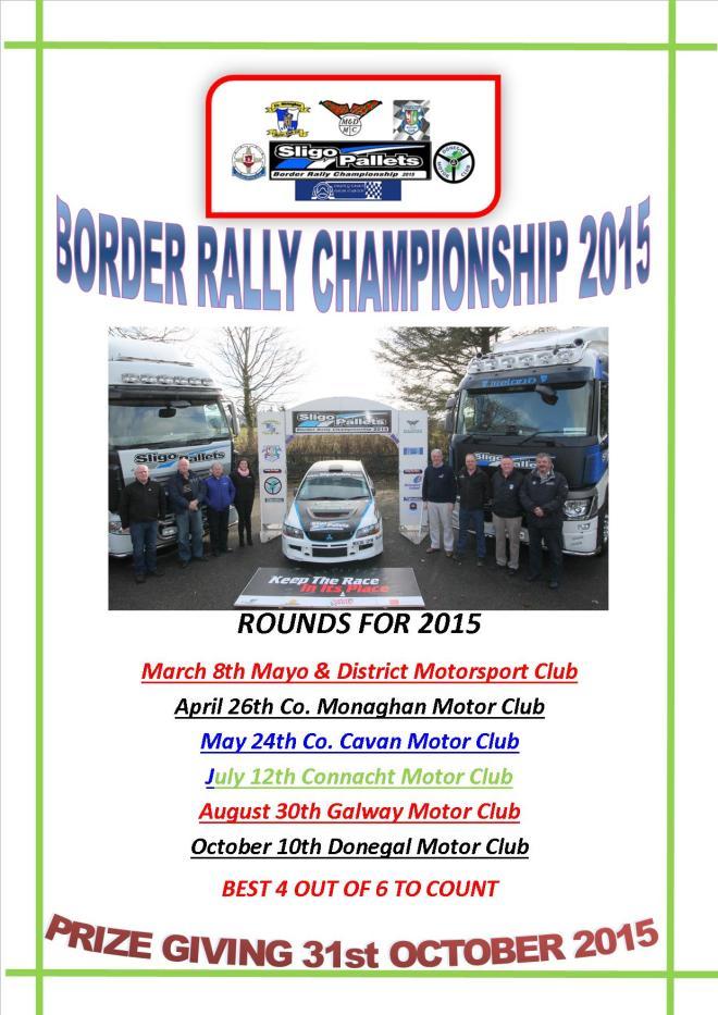 Border Rally Championship  poster facebook