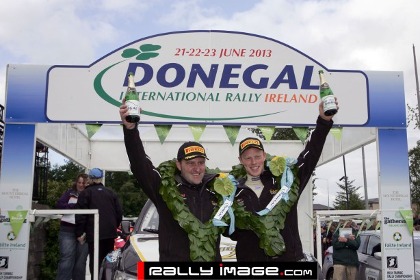 Winners 2013 Donegal International Rally. S Moffett (R)& J O Reilly ( L)